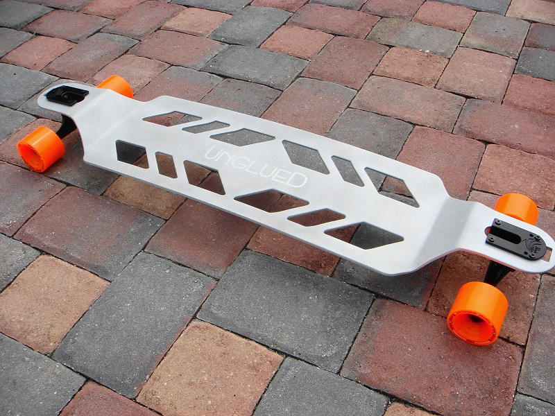 very cool aluminum skate8board, sick!